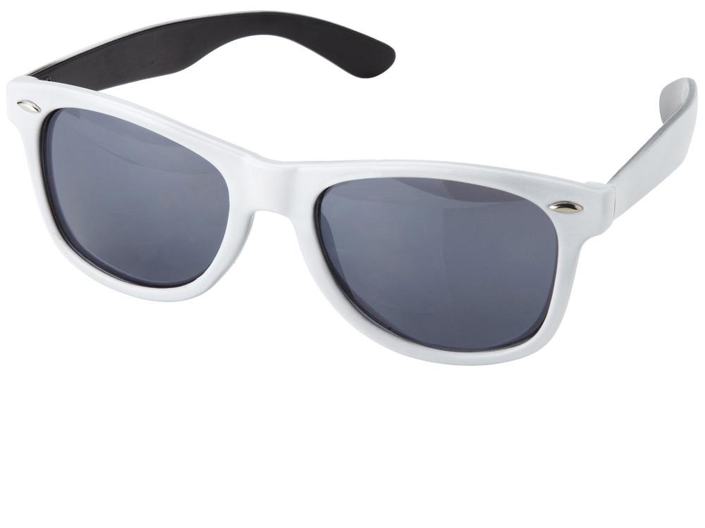 Очки солнцезащитные Crockett, белый/черный