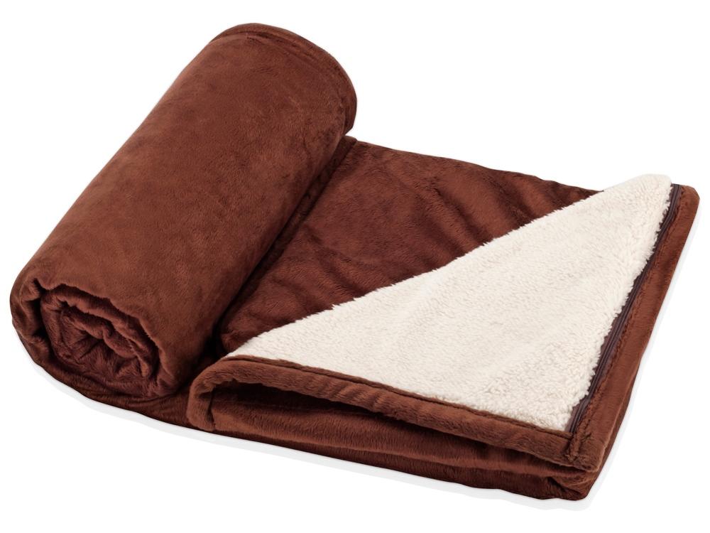 Плед «Диа», коричневый