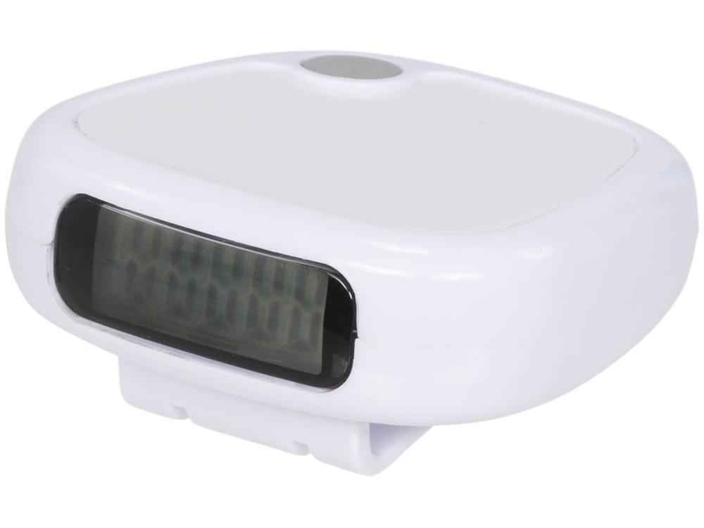 Трекинговый шагомер с экраном LCD, белый