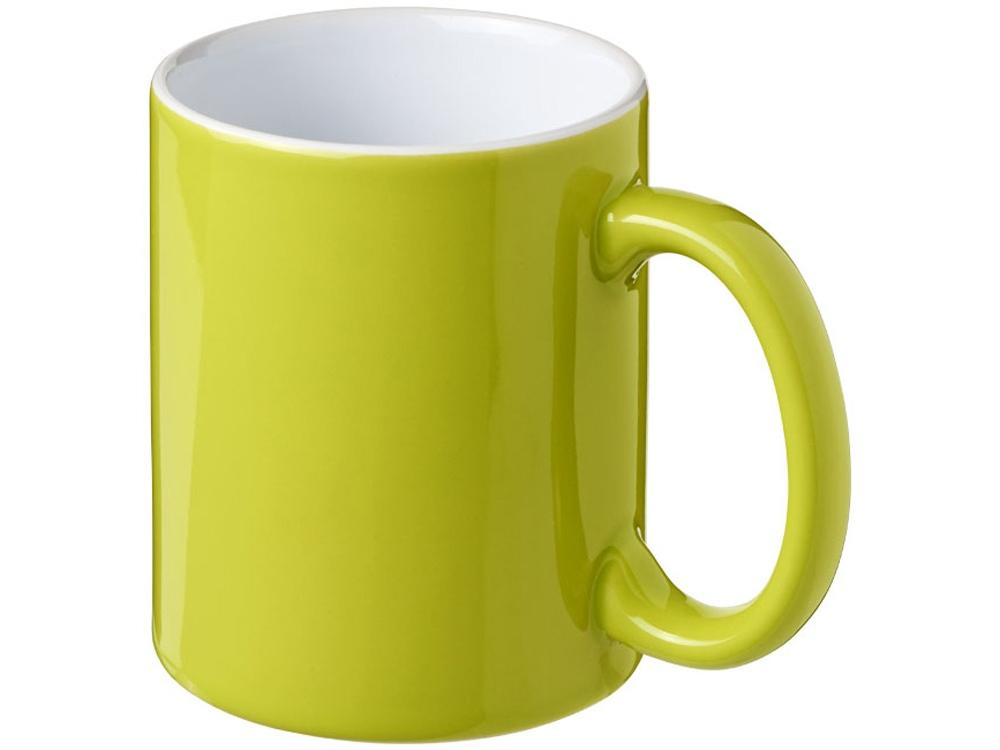 Керамическая кружка Java, лайм/белый