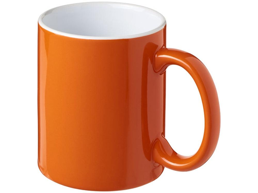 Керамическая кружка Java, оранжевый/белый