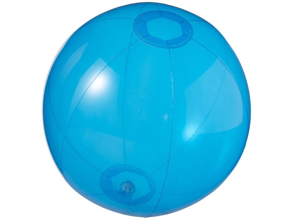 Мяч пляжный Ibiza, синий прозрачный