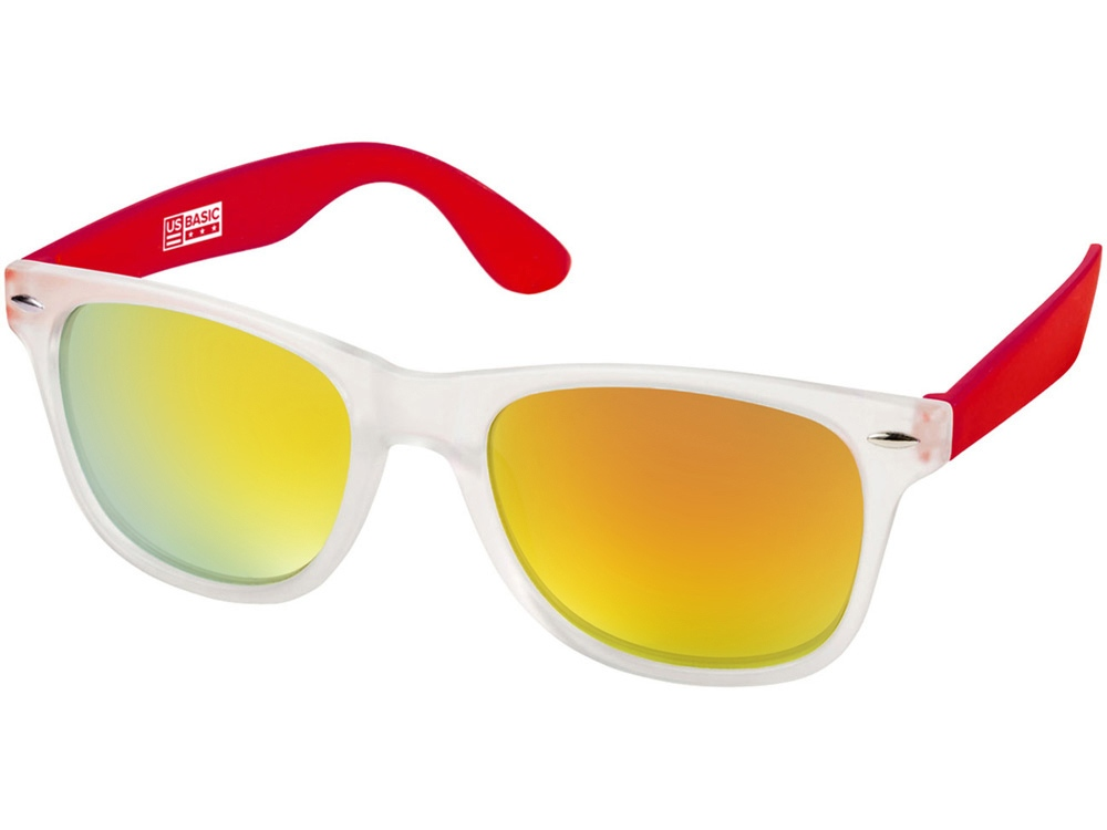 Солнцезащитные очки California, бесцветный полупрозрачный/красный