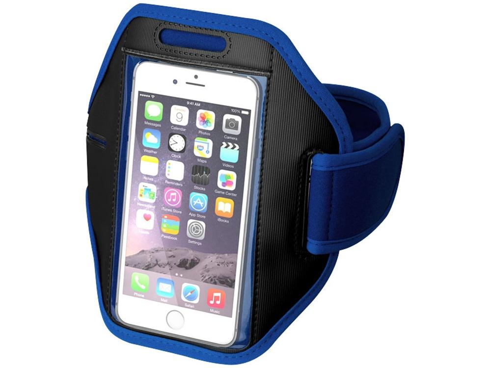 Наручный чехол Gofax для смартфонов с сенсорным экраном, ярко-синий/черный