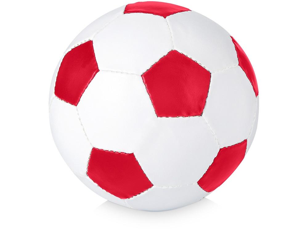 Футбольный мяч «Curve», красный/белый