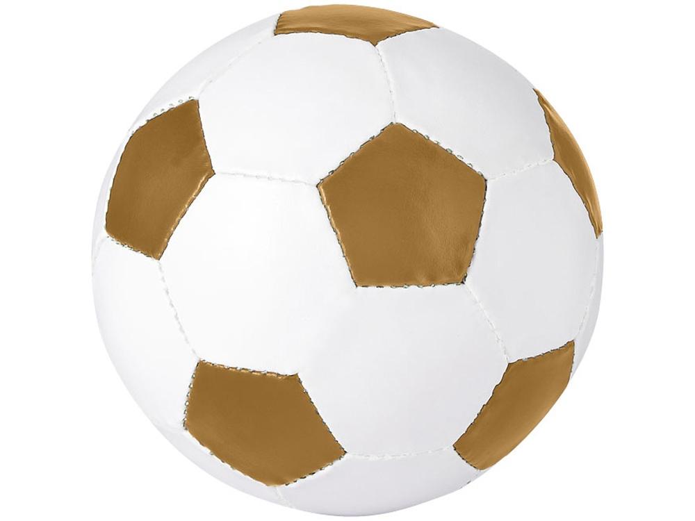 Футбольный мяч «Curve», золотой/белый