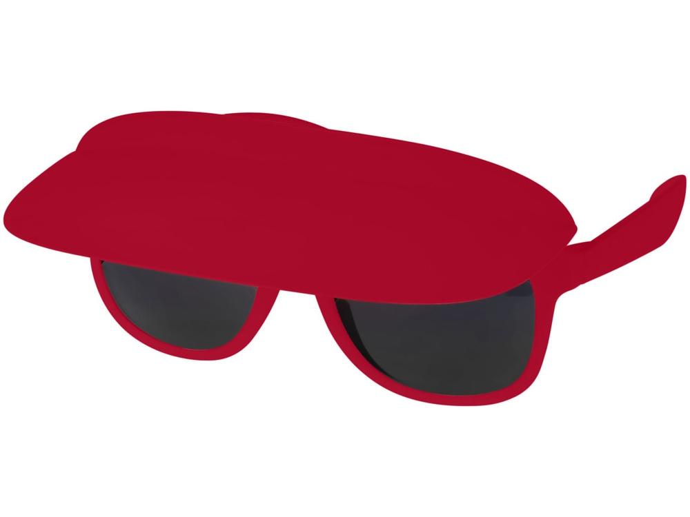 Очки с козырьком Miami, красный/черный
