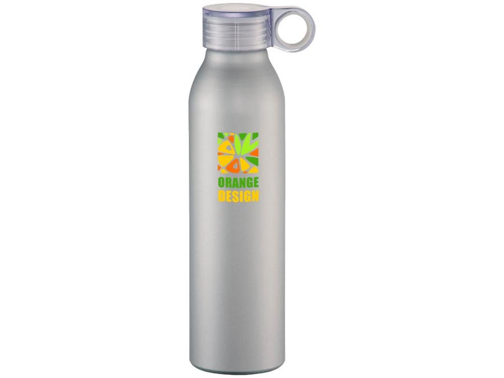 Спортивная алюминиевая бутылка Grom, серебристый