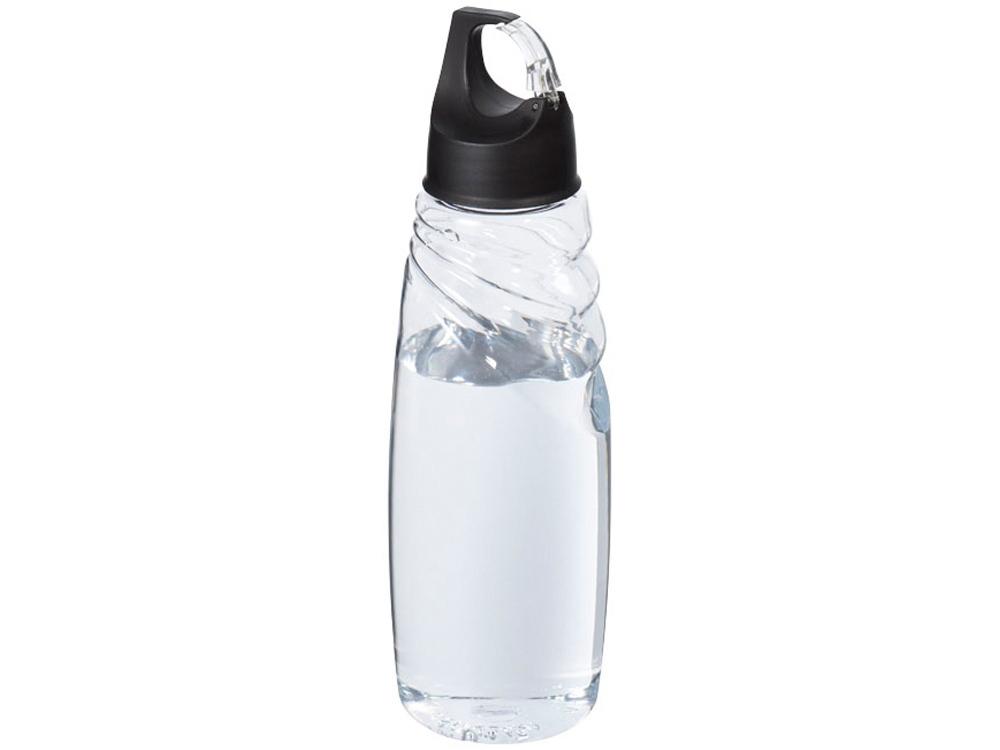 Спортивная бутылка Amazon Tritan™ с карабином, прозрачный