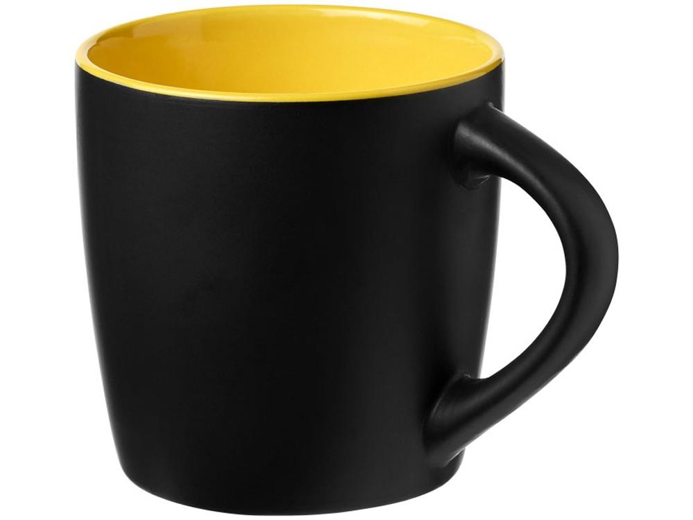 Керамическая чашка Riviera, черный/желтый
