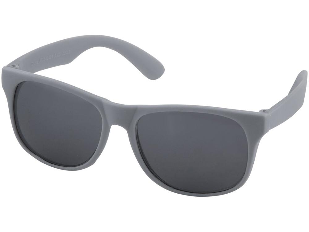 Солнцезащитные очки Retro- сплошные, серый
