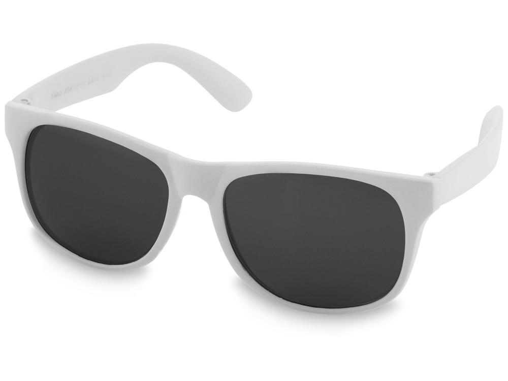 Солнцезащитные очки Retro - сплошные, белый