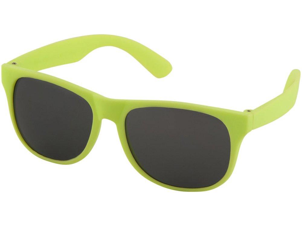 Солнцезащитные очки Retro - сплошные, лайм