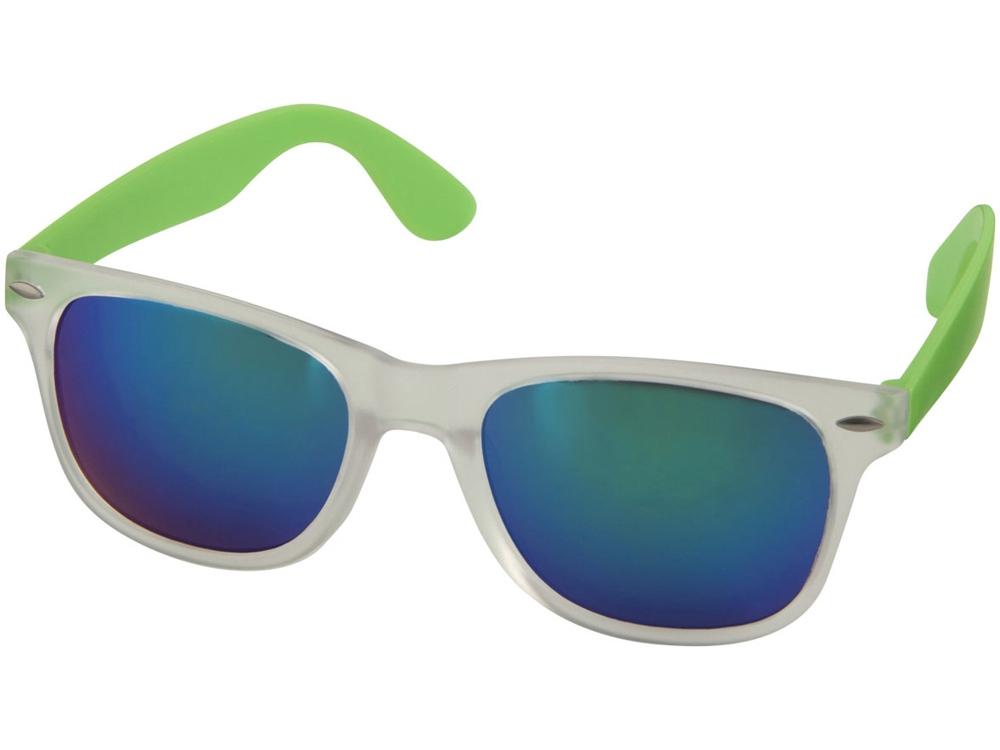 Солнцезащитные очки Sun Ray - зеркальные, лайм