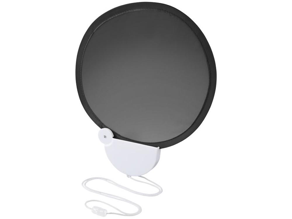 Складной вентилятор Breeze со шнурком, черный/белый