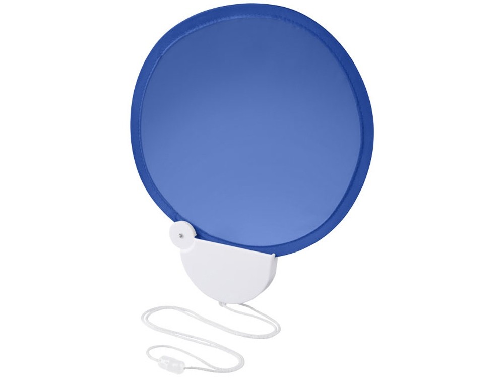 Складной вентилятор Breeze со шнурком, ярко-синий/белый