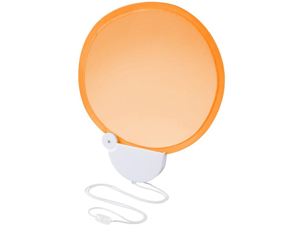 Складной вентилятор Breeze со шнурком, оранжевый/белый