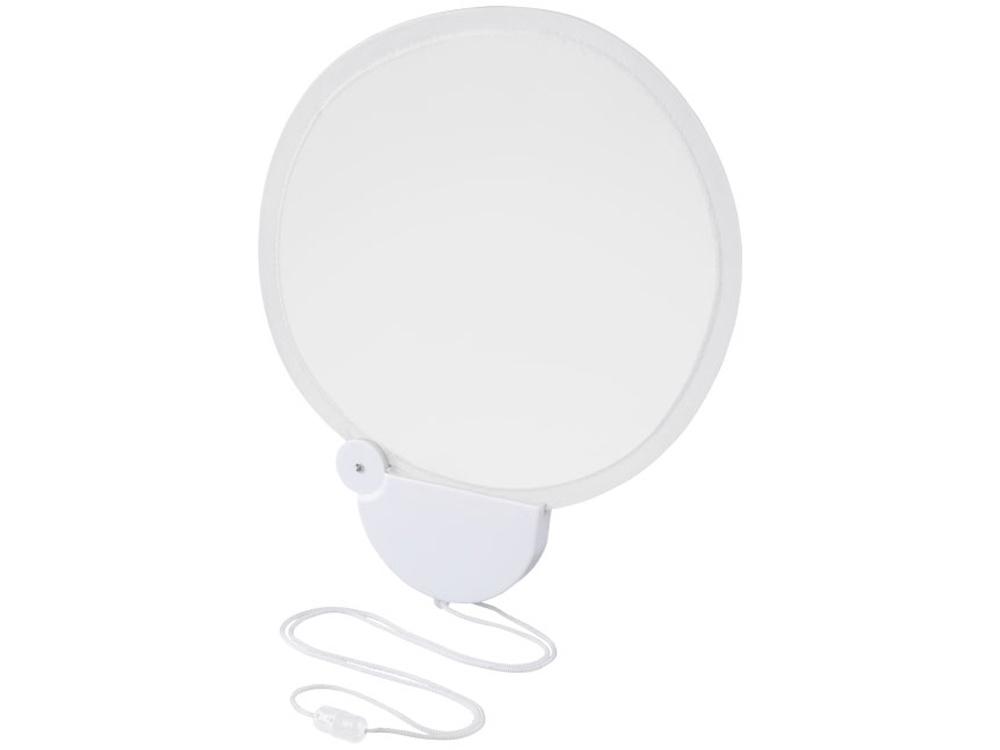Складной вентилятор Breeze со шнурком, белый