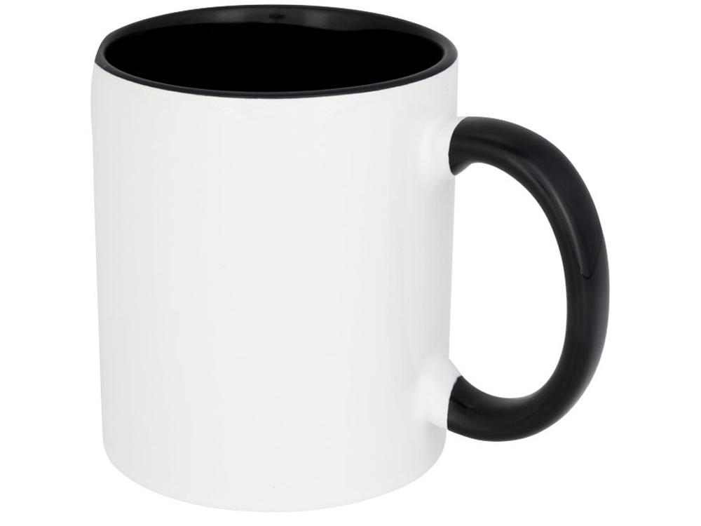 Цветная кружка Pix для сублимации, белый/черный