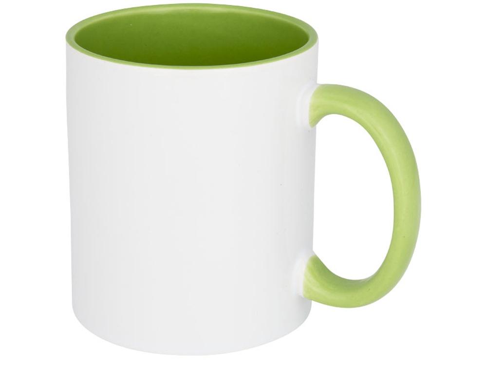 Цветная кружка Pix для сублимации, белый/зеленый