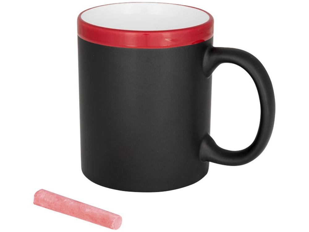 Кружка, на которой можно писать мелом, красный