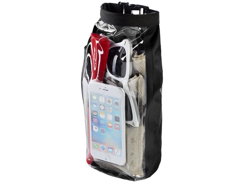 Туристическая водонепроницаемая сумка объемом 2 л, чехол для телефона, черный
