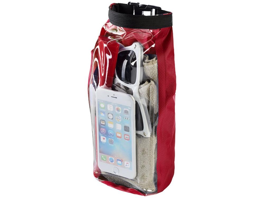Туристическая водонепроницаемая сумка объемом 2 л, чехол для телефона, красный