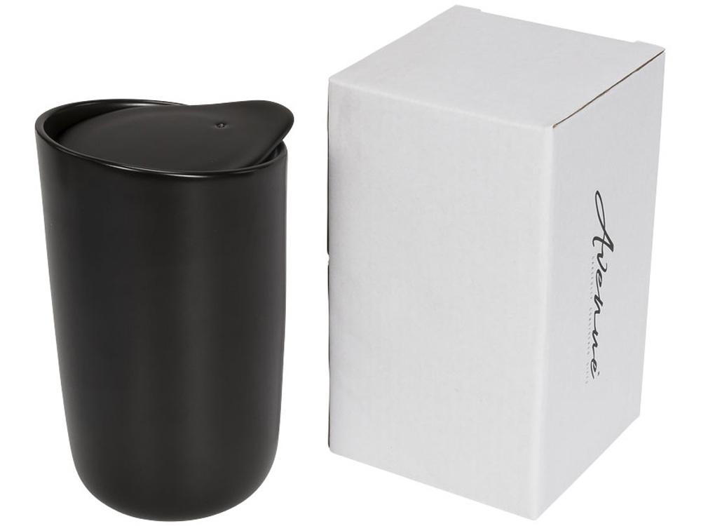 Керамический стакан Mysa с двойными стенками объемом 400 мл, черный