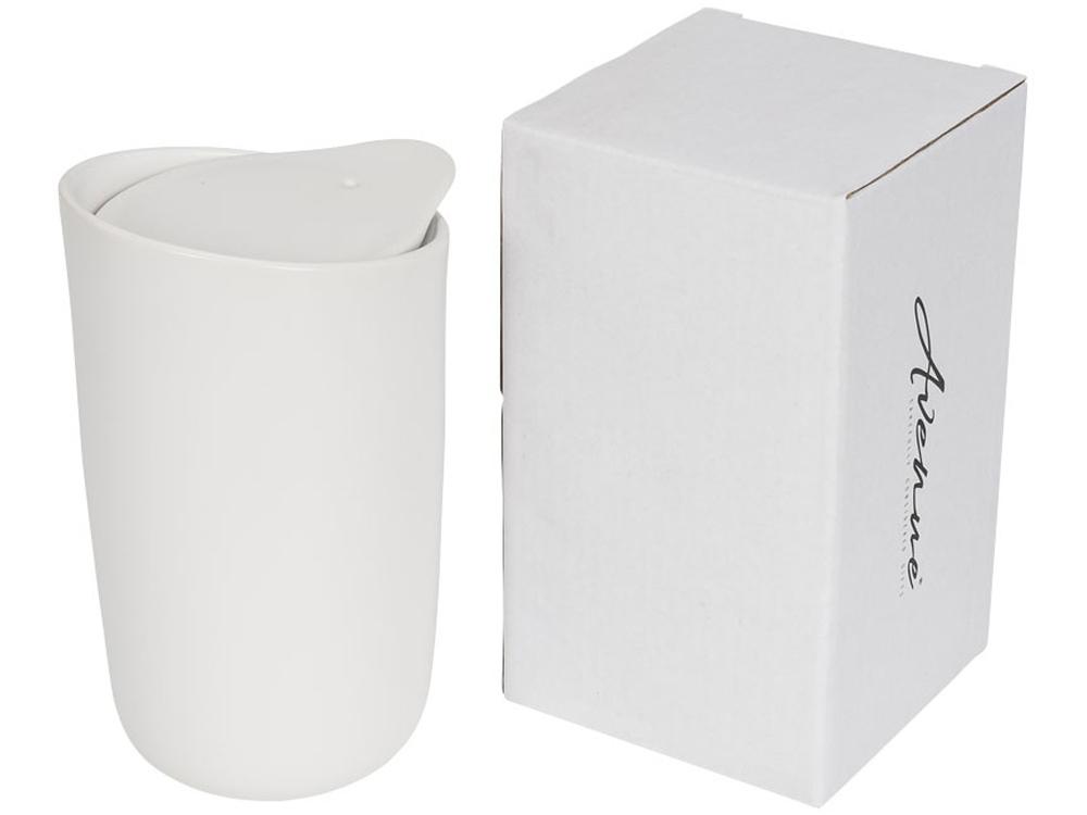 Керамический стакан Mysa с двойными стенками объемом 400 мл, белый