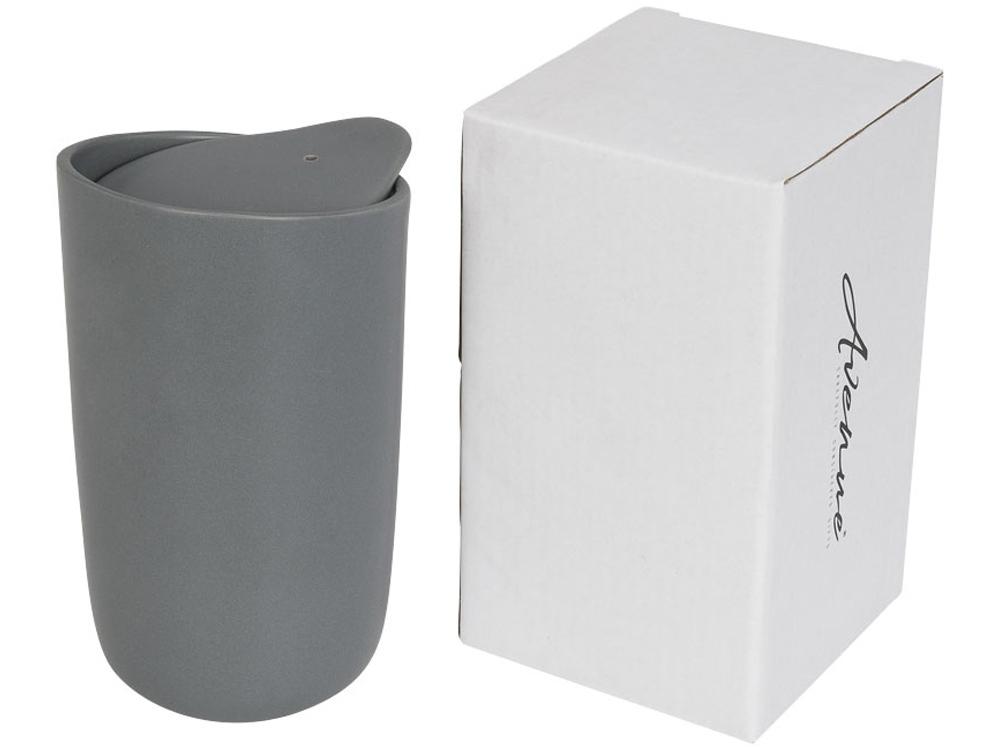 Керамический стакан Mysa с двойными стенками объемом 400 мл, серый