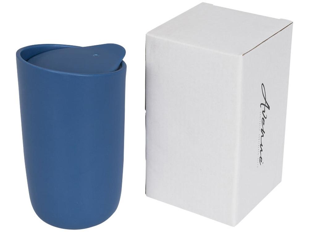 Керамический стакан Mysa с двойными стенками объемом 400 мл, синий