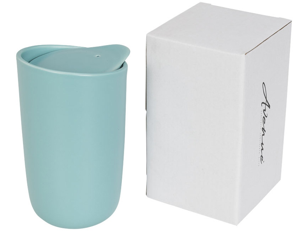 Керамический стакан Mysa с двойными стенками объемом 400 мл,  мятный