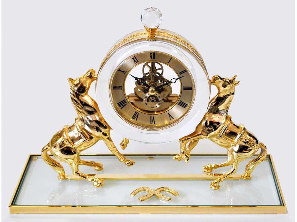 Интерьерные часы «Дворцовые», прозрачный/золотистый