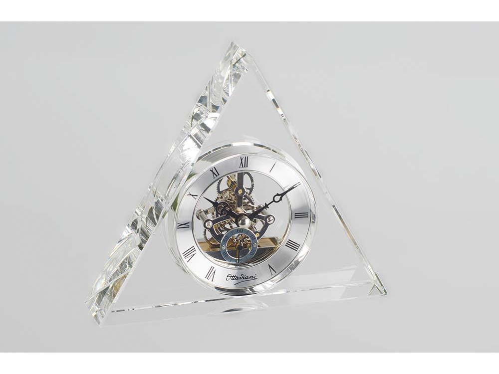 Часы настольные Ottaviani, прозрачный/серебристый