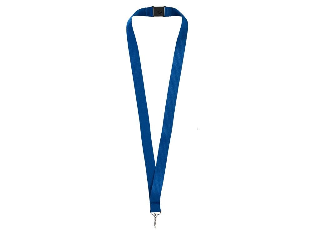 Ремешок на шею с карабином «Бибионе», темно-синий