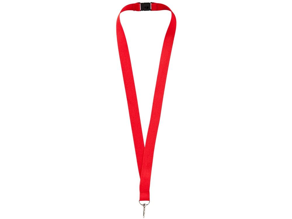 Ремешок на шею с карабином «Бибионе», красный