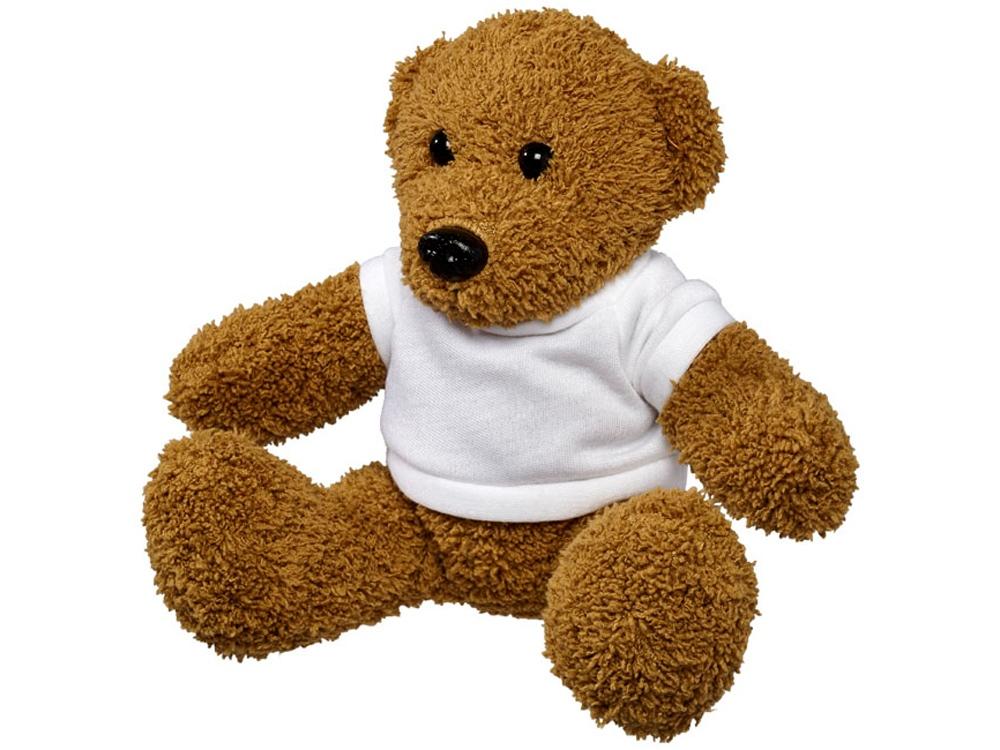 Плюшевый медведь с футболкой, коричневый/белый