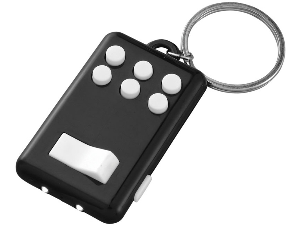 Брелок-фонарик «Flip&Click», черный/белый