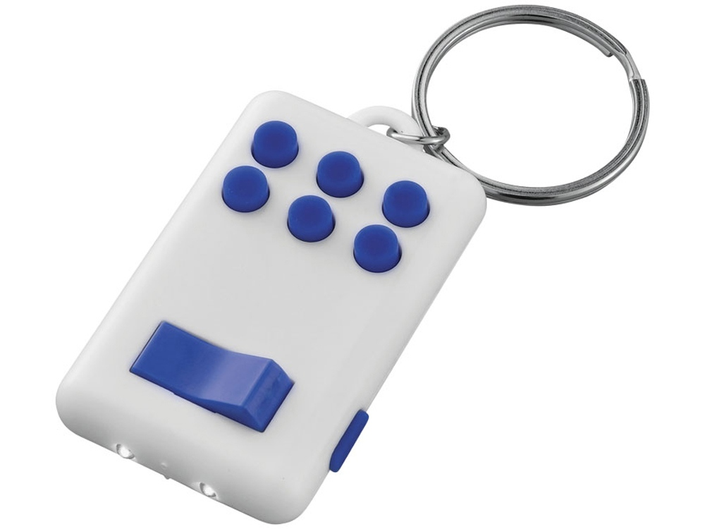 Брелок-фонарик «Flip&Click», белый/ярко-синий