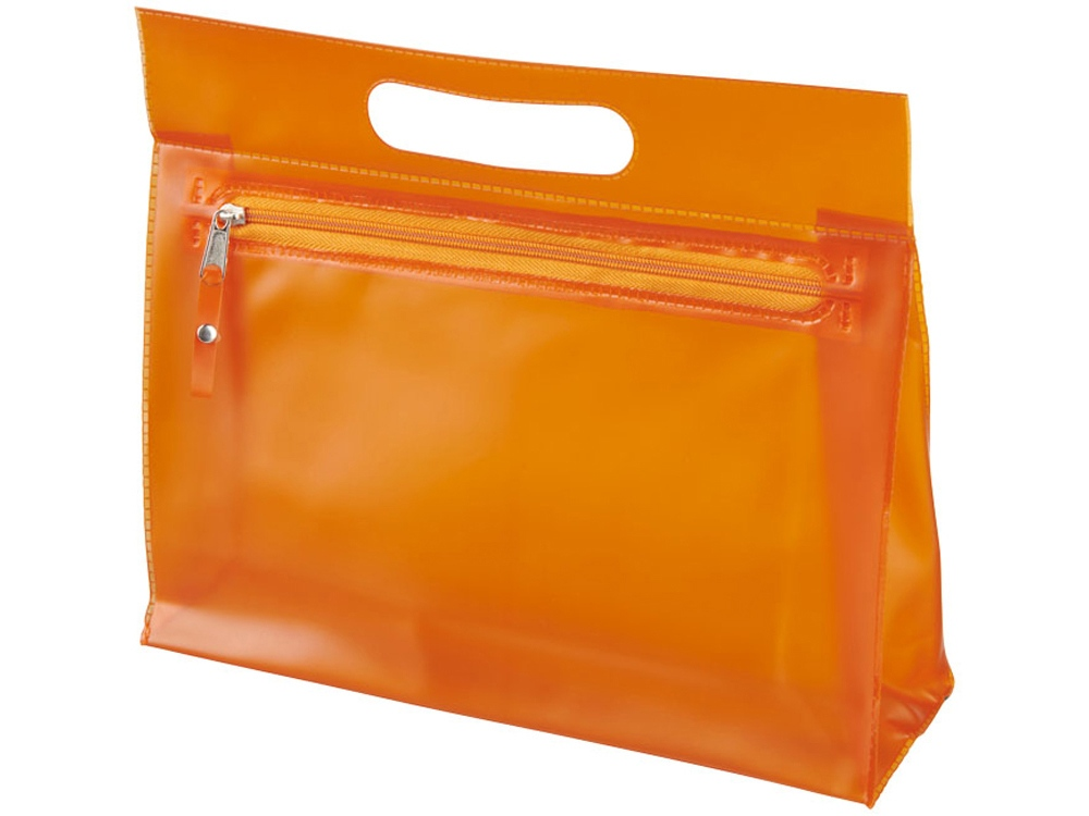 Прозрачная косметичка Paulo, оранжевый