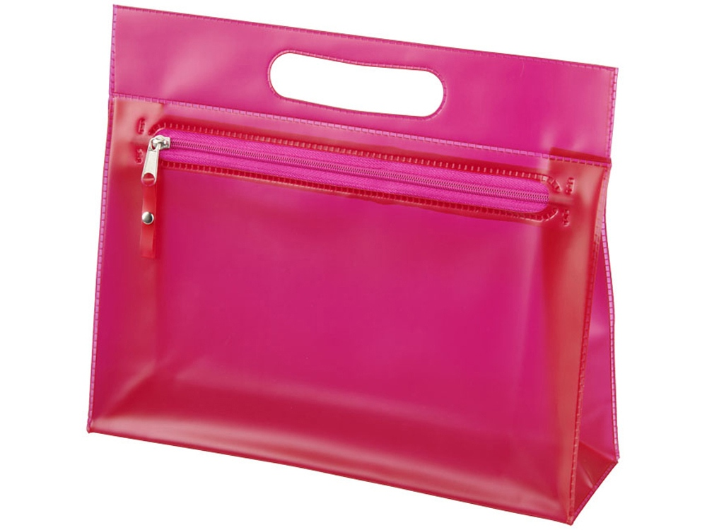Прозрачная косметичка Paulo, розовый