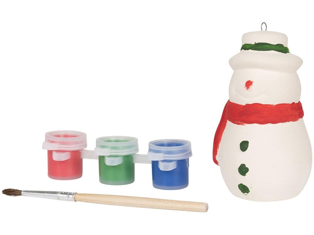 Раскрась снеговика, белый