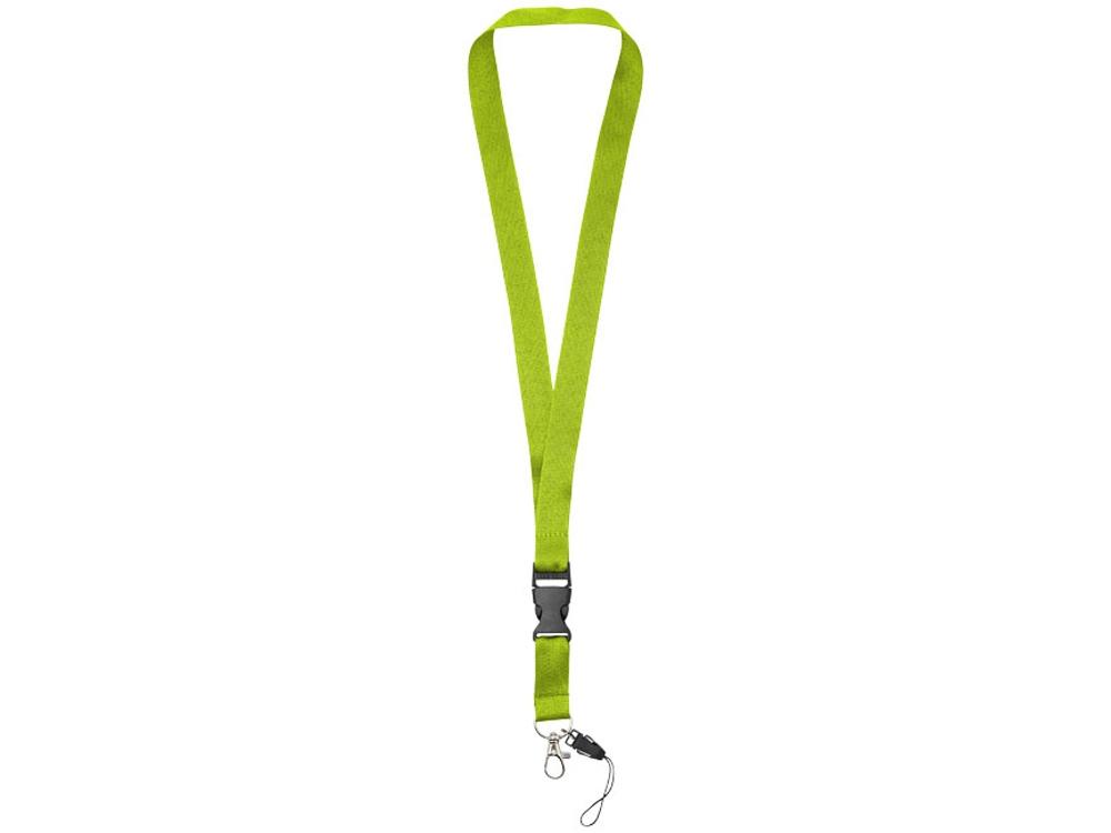 Шнурок Sagan с отстегивающейся пряжкой, держатель для телефона, лайм