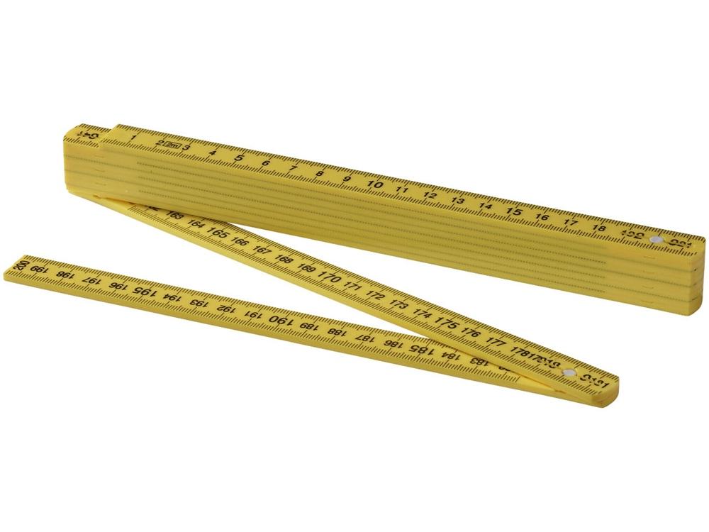 Складная линейка длиной 2 м, желтый