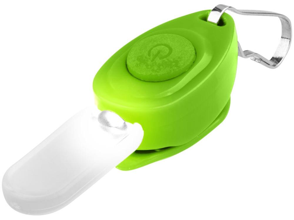 Брелок-фонарик для молнии, зеленый