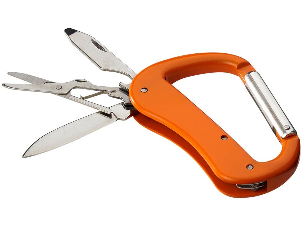 Нож Canyon с карабином, 5 функций, оранжевый