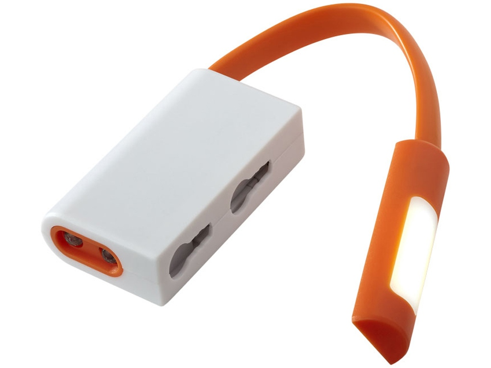 Фонарик Libra с карабином, белый/оранжевый