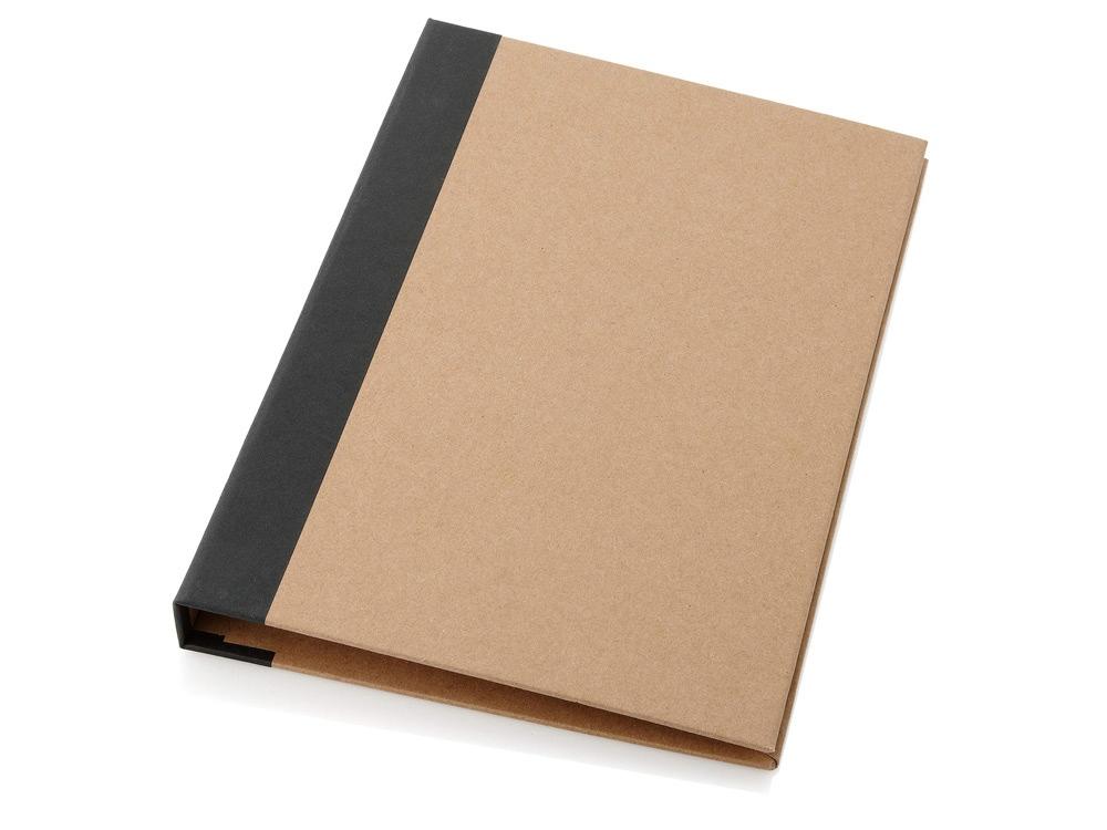 Папка Ranger с блокнотом, набором стикеров, блоком для записей и ручкой, черный