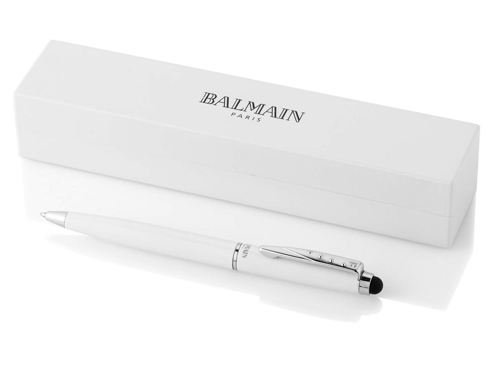 Шариковая ручка-стилус ''Maud '' в футляре, белый, черные чернила