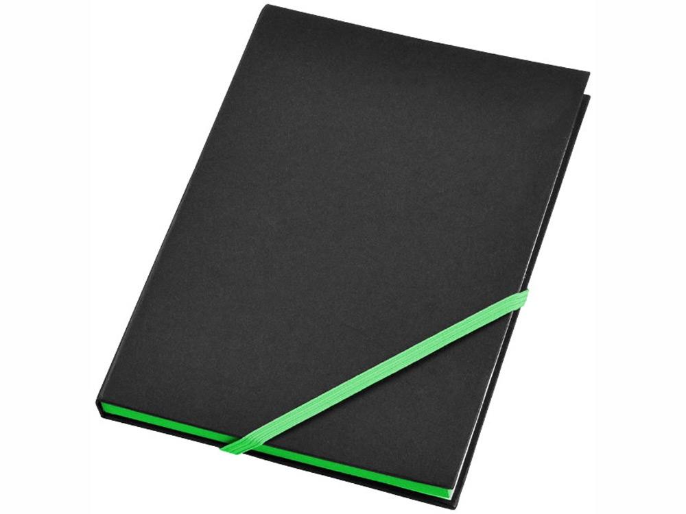 Блокнот А5 Travers, черный/зеленый